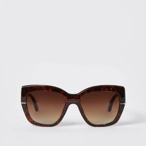 river island Womens Brown tortioseshell RI glam sunglasses (One Size)
