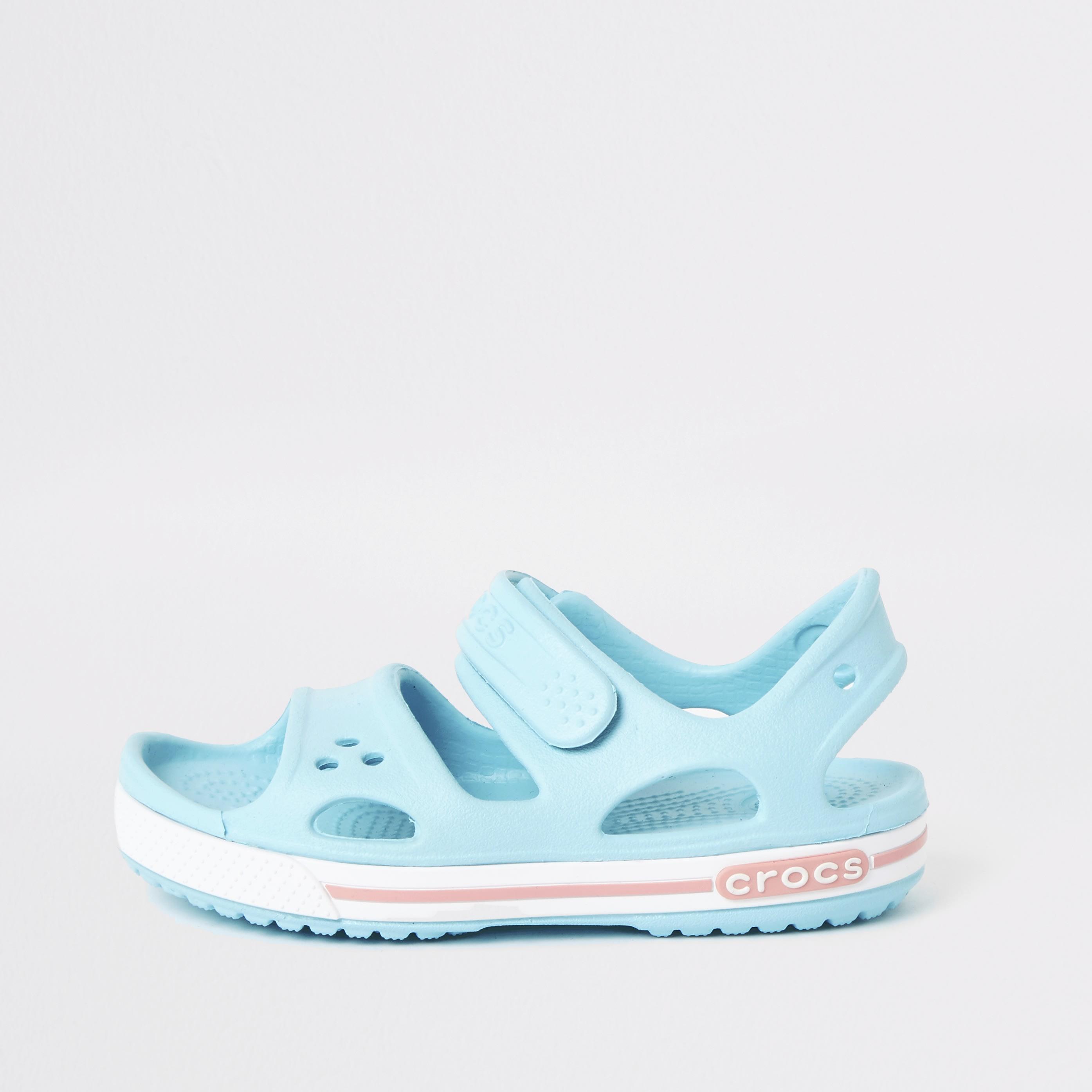 River Island Kids Crocs light Blue bayaband sandals (2)