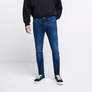 river island Mens Dark Blue Sid skinny jeans (38R)