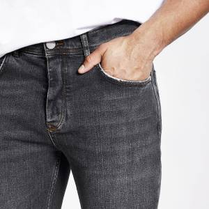 river island Mens Light Black Dean straight leg jeans (28R)