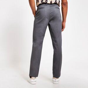 river island Mens Grey slim fit chino trousers (38R)
