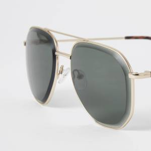 river island Mens Gold colour beleved aviator sunglasses (One Size)
