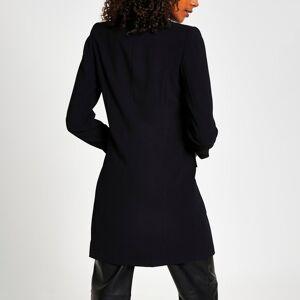 river island Womens Black longline double breasted blazer (18)