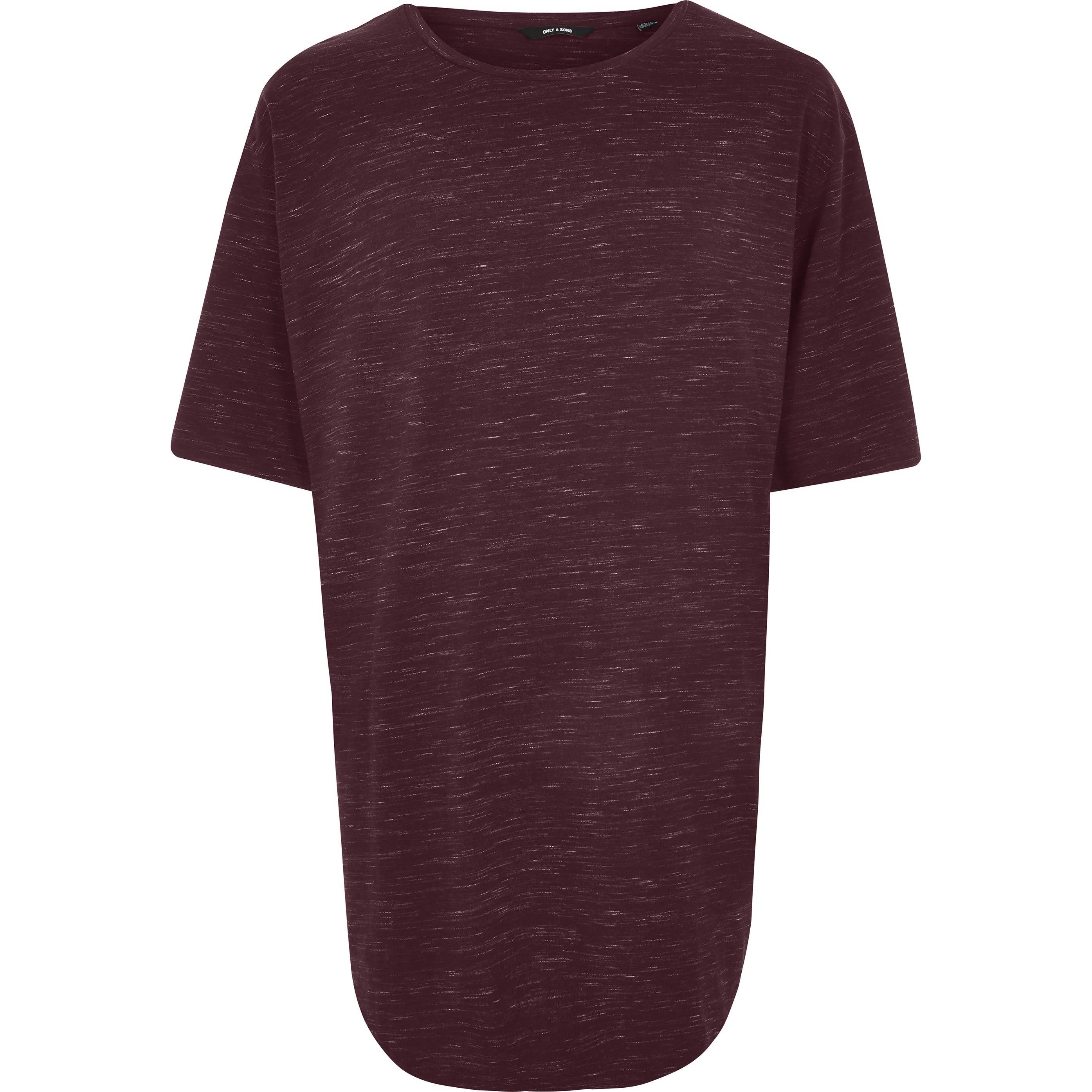 River Island Mens Only & Sons Big and Tall Red print T-shirt (XXXL)