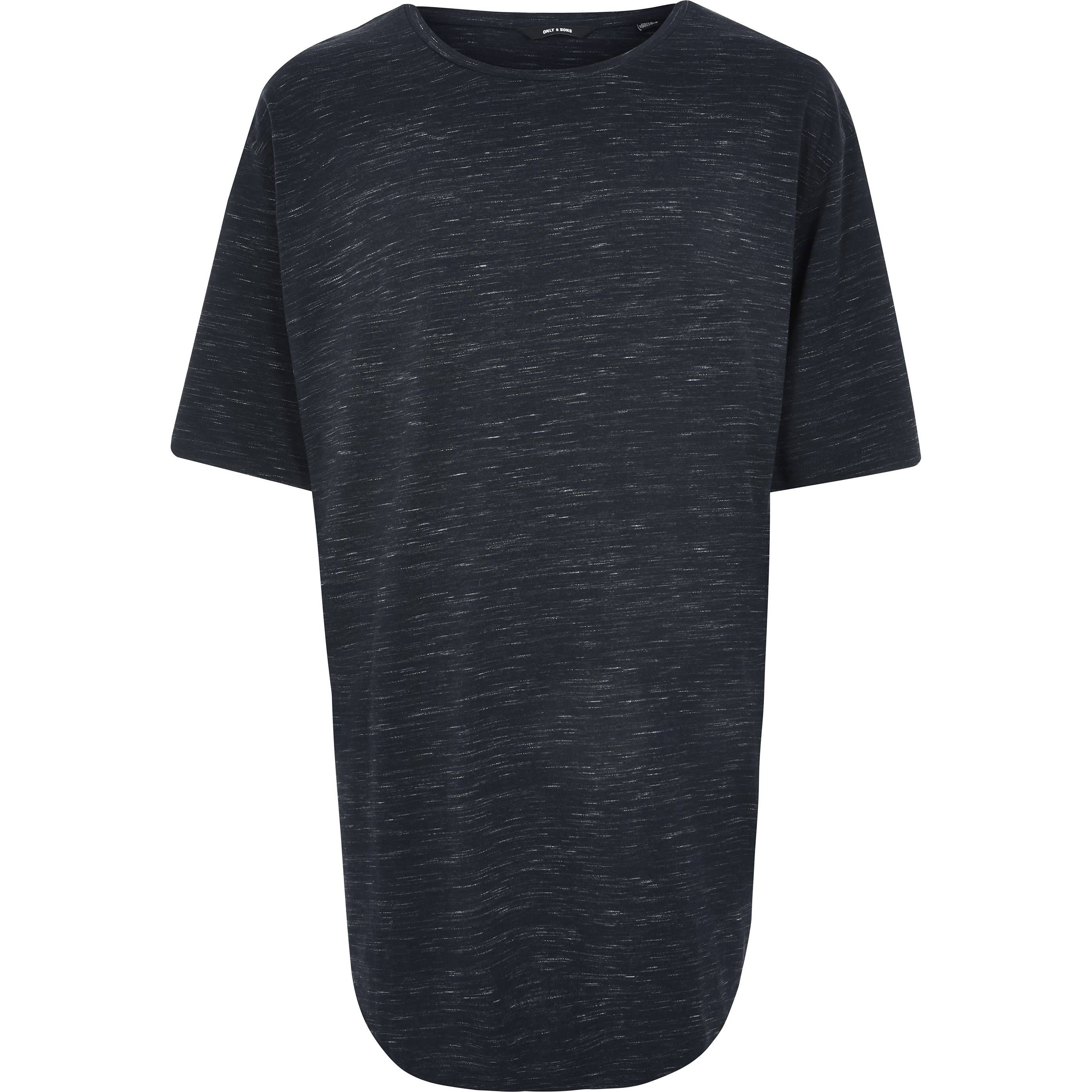 River Island Mens Only & Sons Big and Tall Navy print T-shirt (XXXXXL)