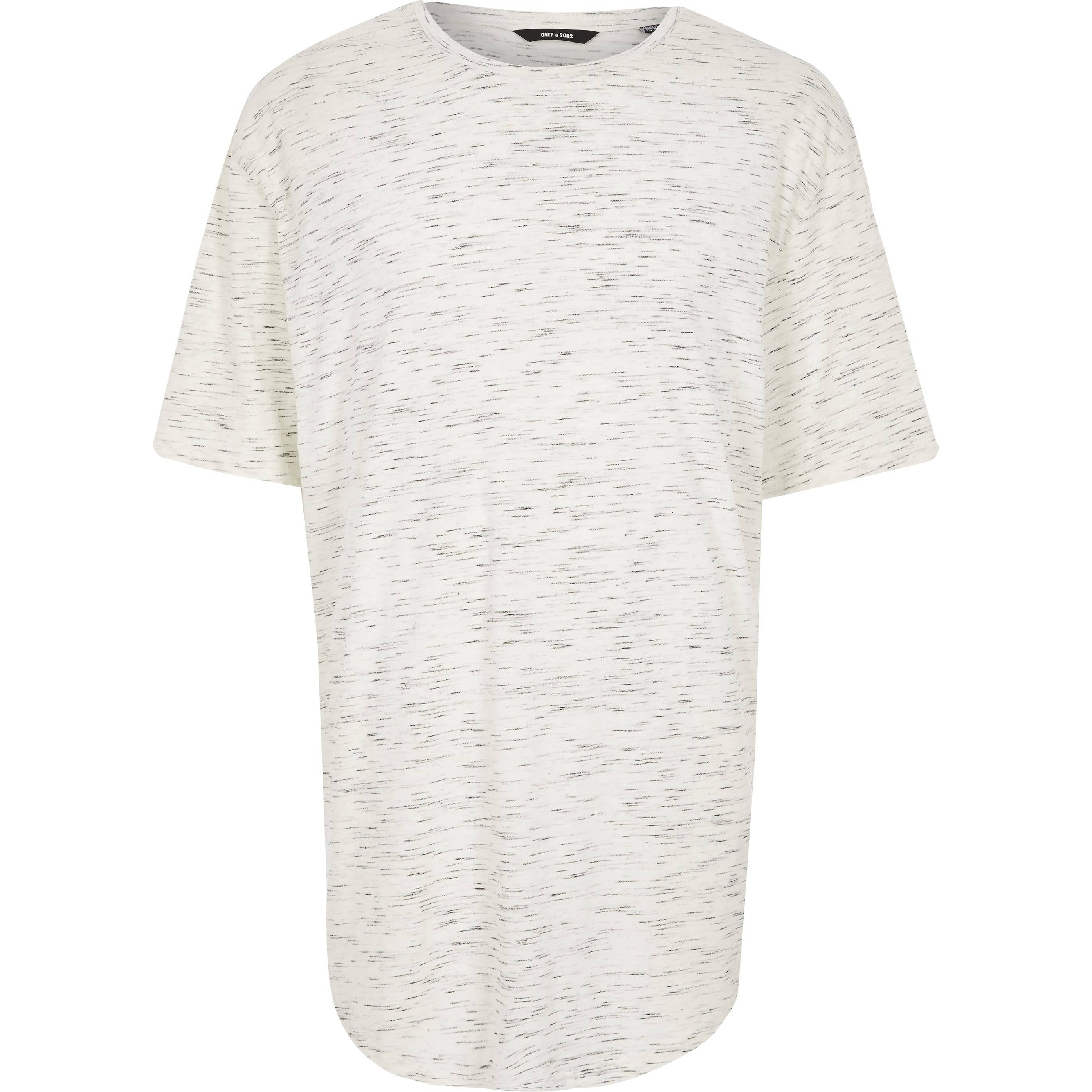 River Island Mens Only & Sons Big and Tall White print T-shirt (XXXXL)