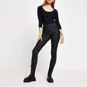 river island Womens Black chain trim long sleeve bodysuit (18)