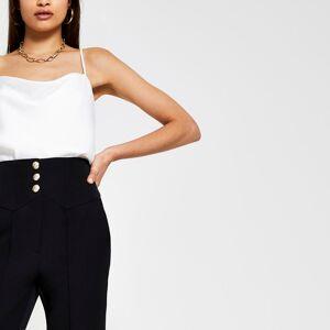 river island Womens Black corset waist cigarette trouser (14)