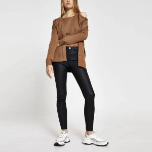 river island Womens Brown chain embellished cardigan (S)