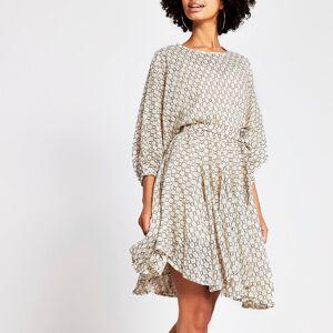 river island Womens Beige lace waisted dress (14)