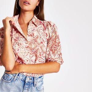 river island Womens Pink paisley embellished shirt (10)