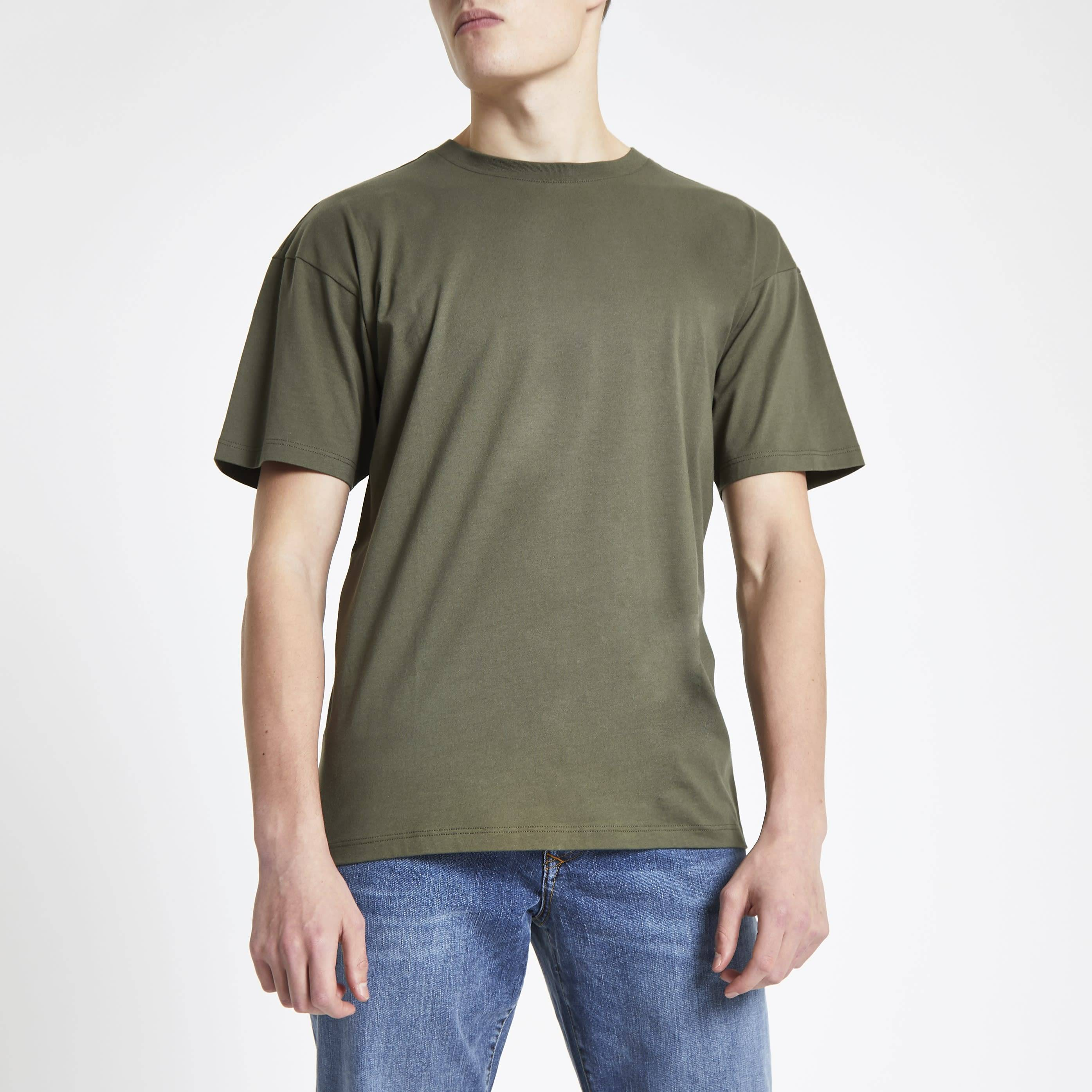 River Island Mens Green oversized short sleeve T-shirt (M)
