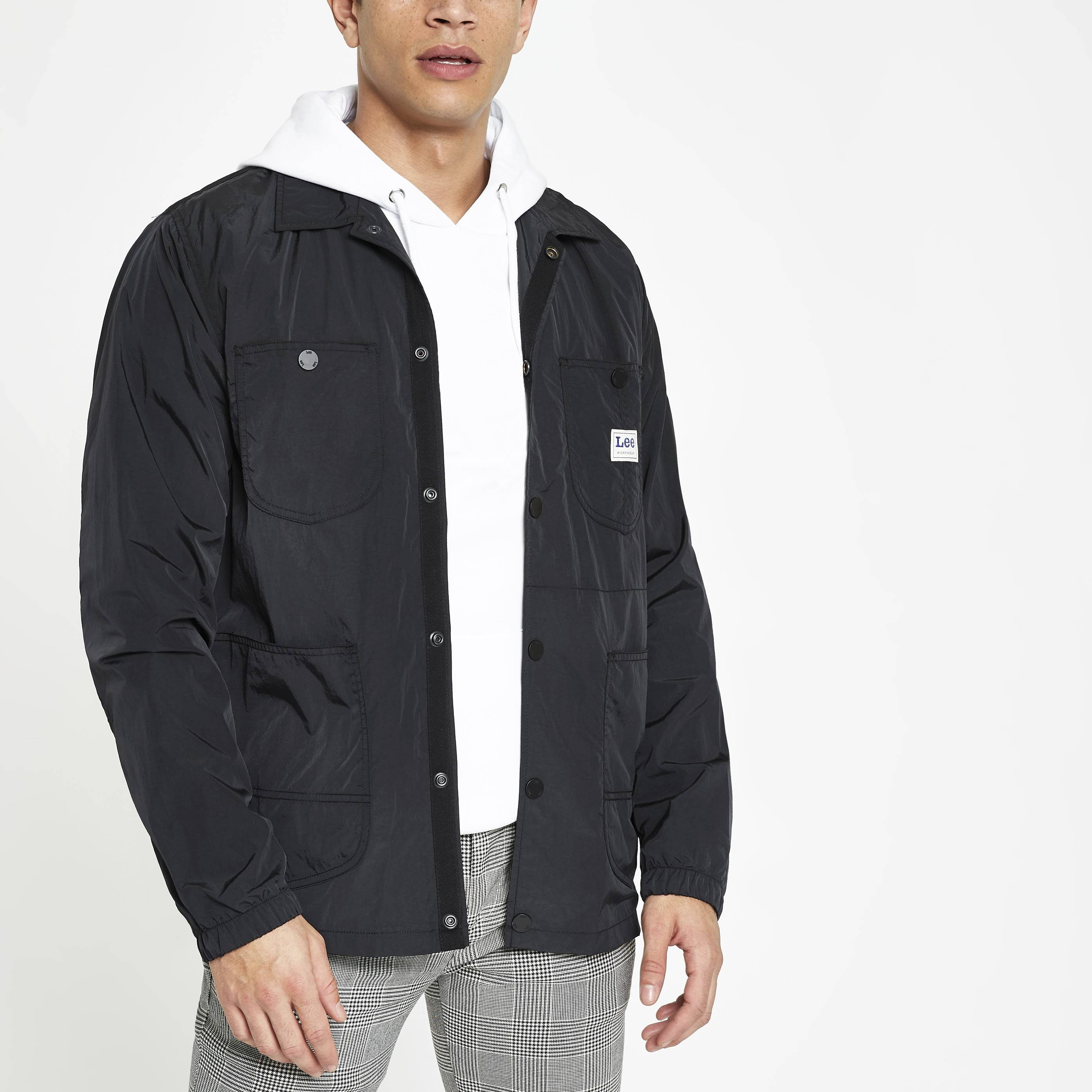Lee Mens Lee Black loco jacket (S)