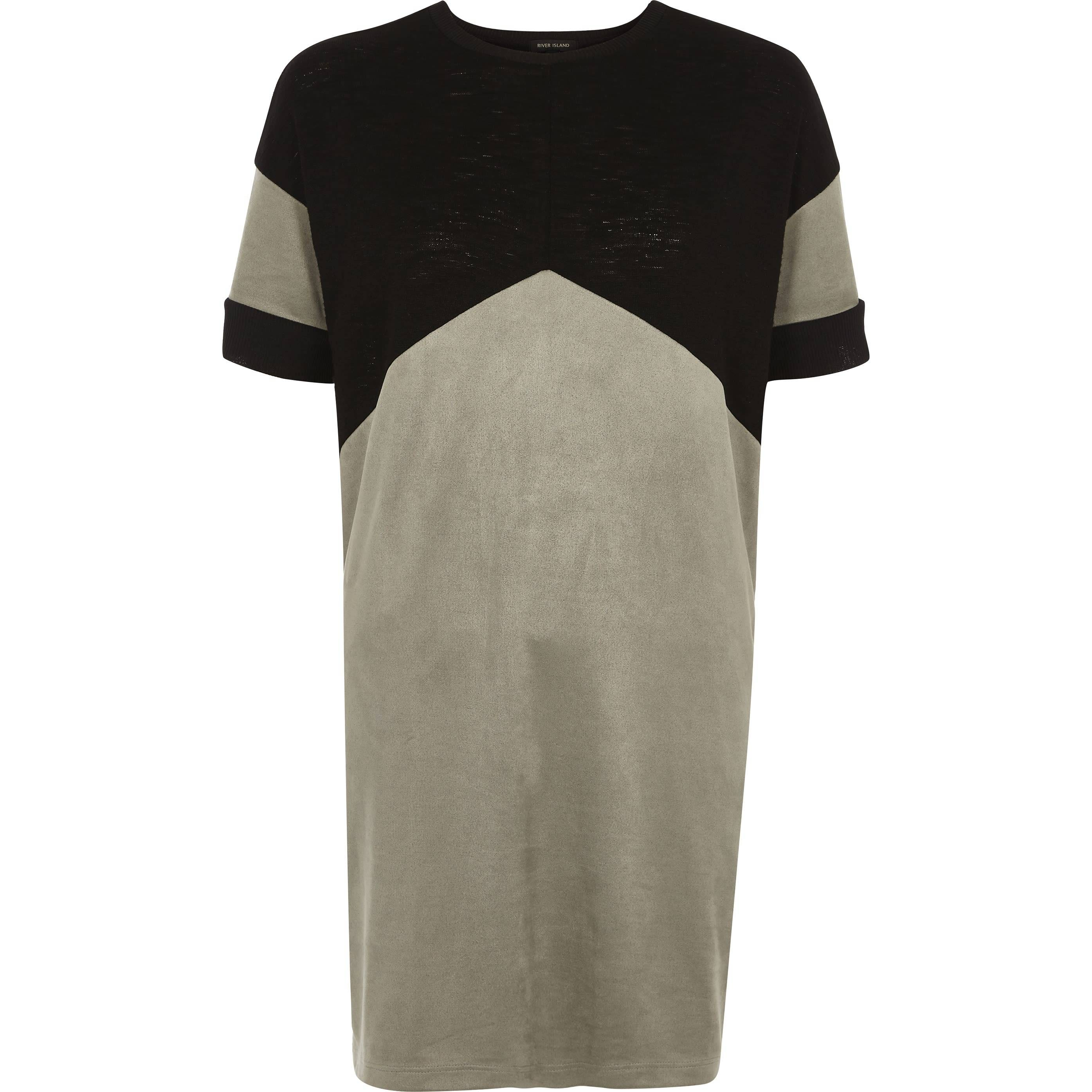 River Island Womens Black colour block chevron oversized T-shirt (10)