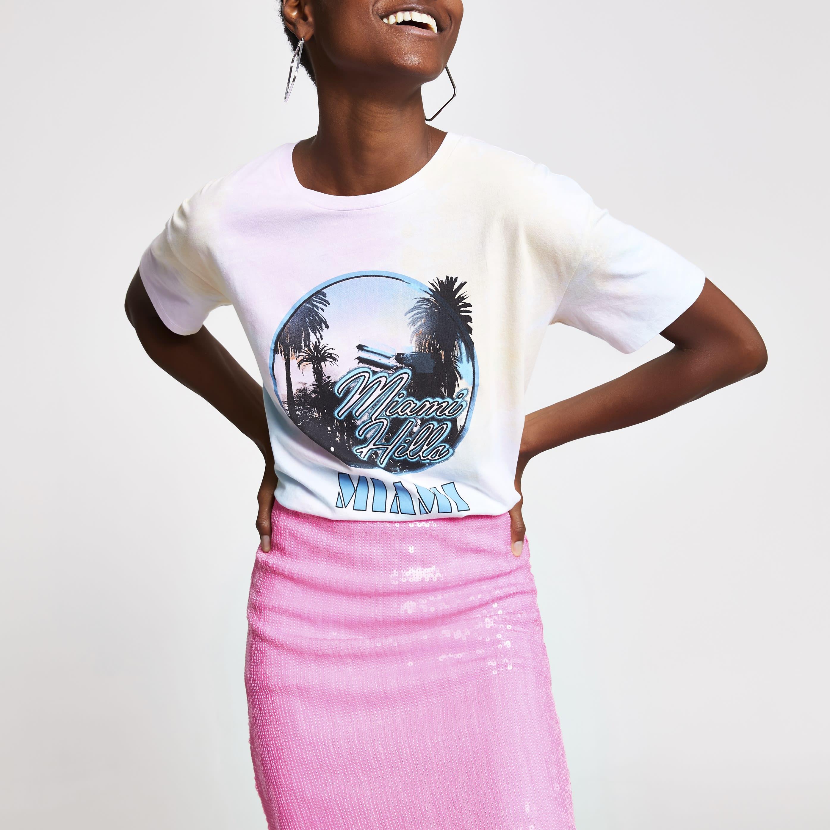 River Island Womens Pink tie dye boyfriend T-shirt (6)
