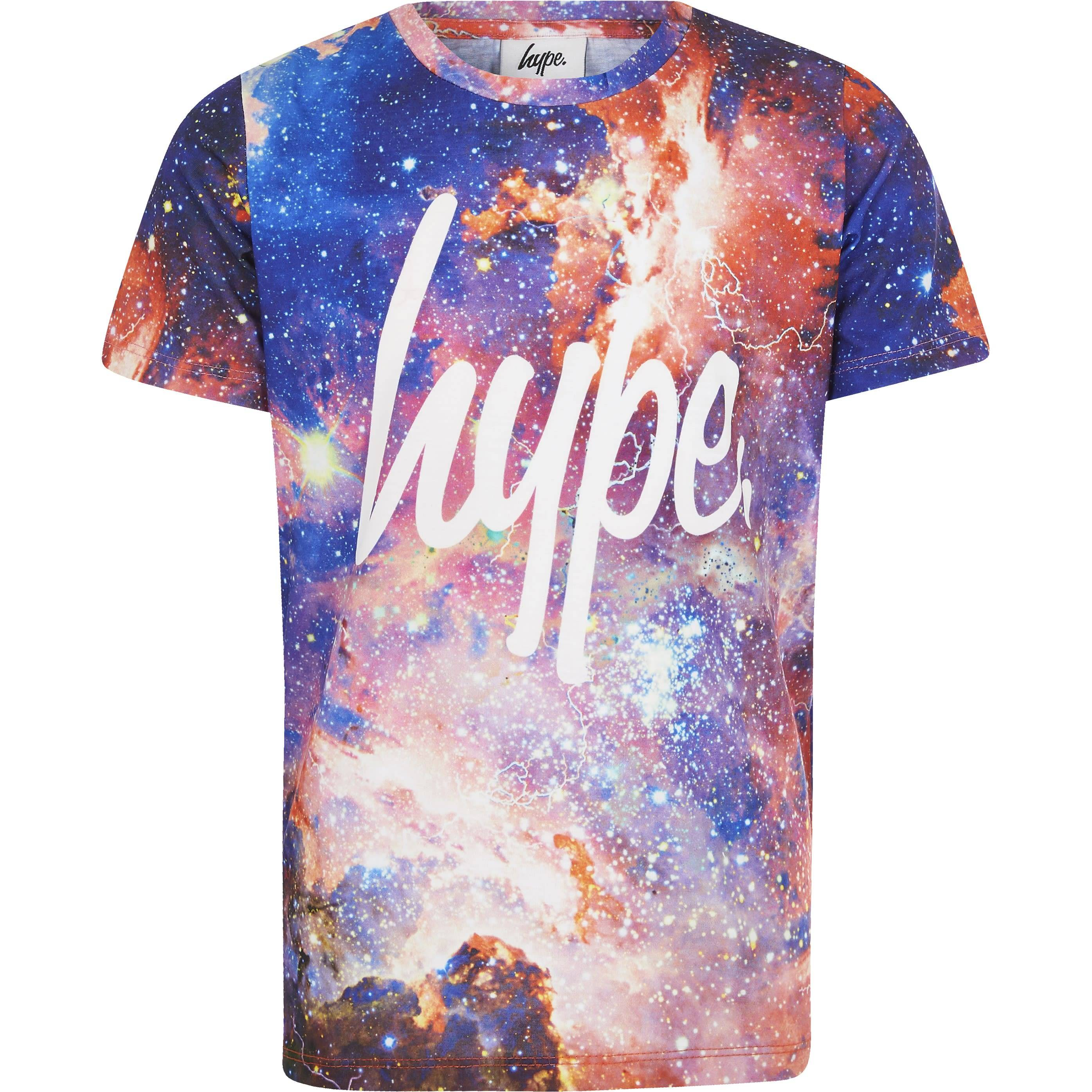 Hype Boys Red Hype space print T-shirt (5-6 Yrs)