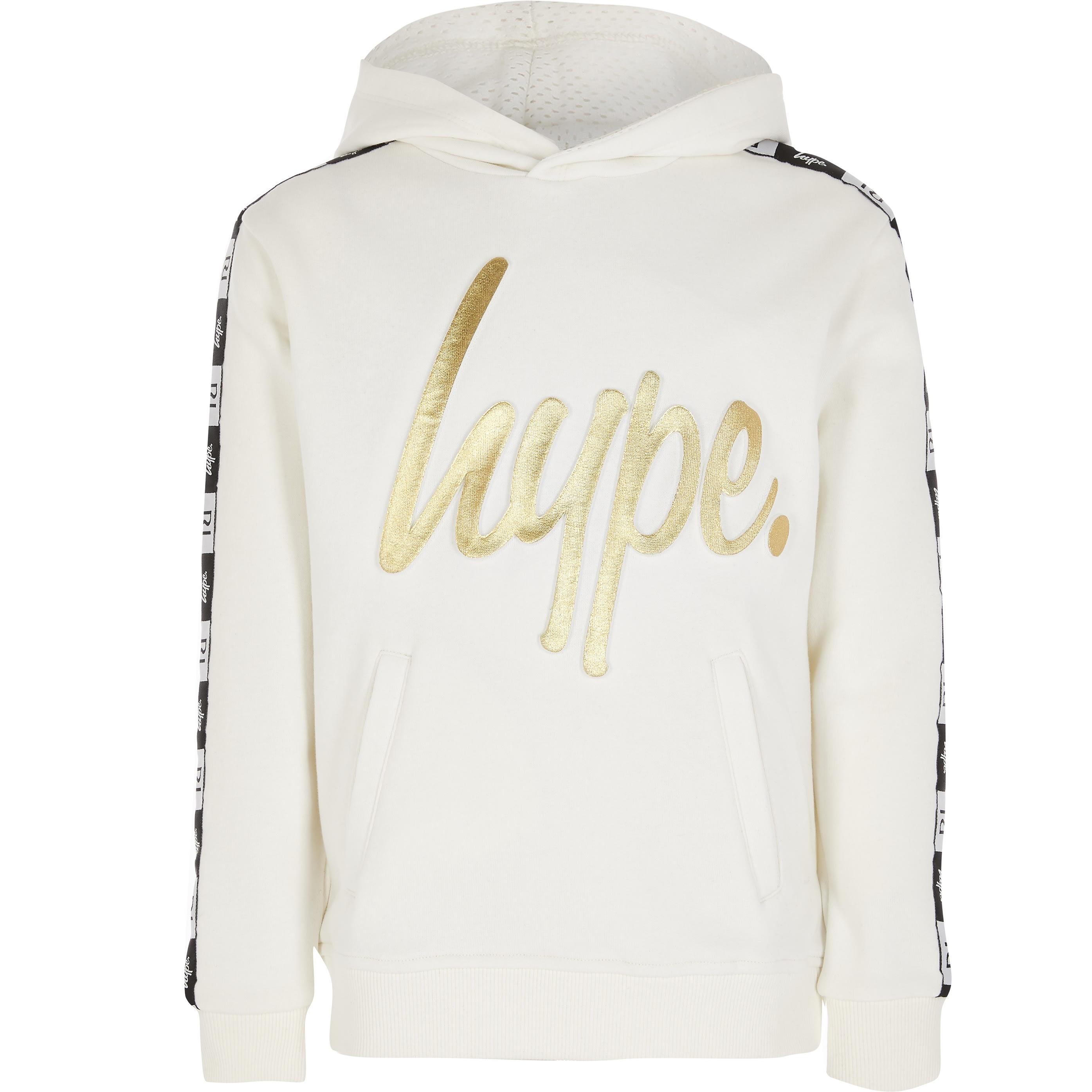 hype Kids RI x Hype White embossed hoodie (5-6 Yrs)