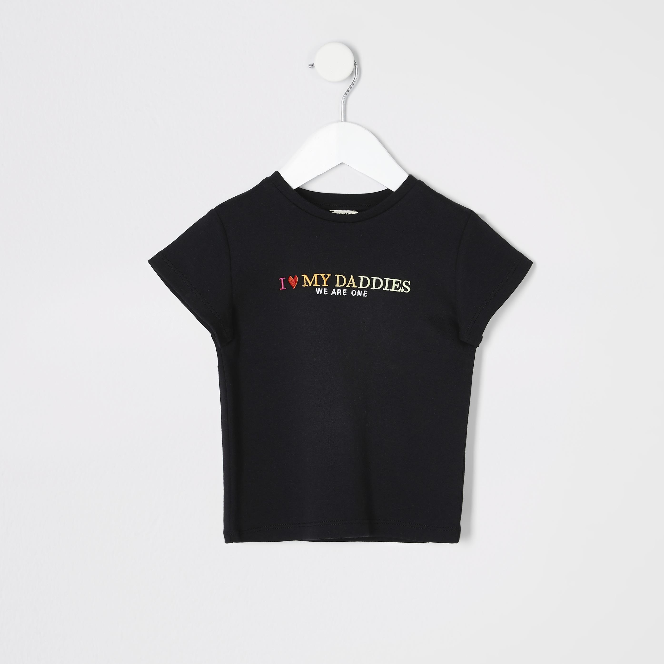River Island Mini kids Black 'We are one' pride T-shirt (3-4 Yrs)