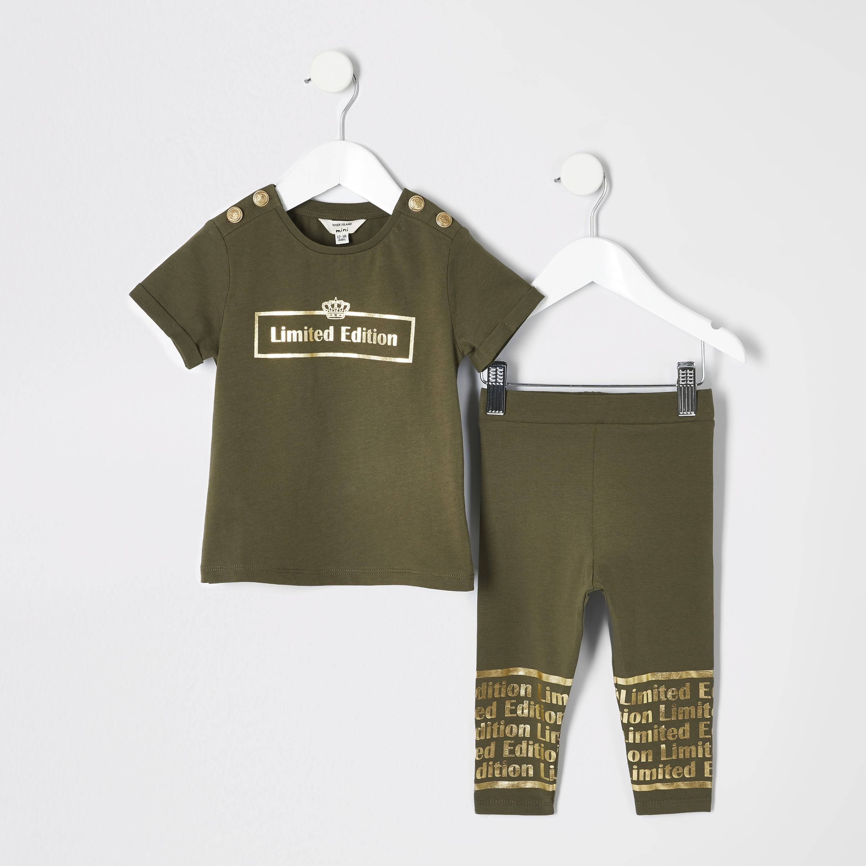 River Island Baby Girls 'limited edition' T-shirt outfit (4-5 Yrs)
