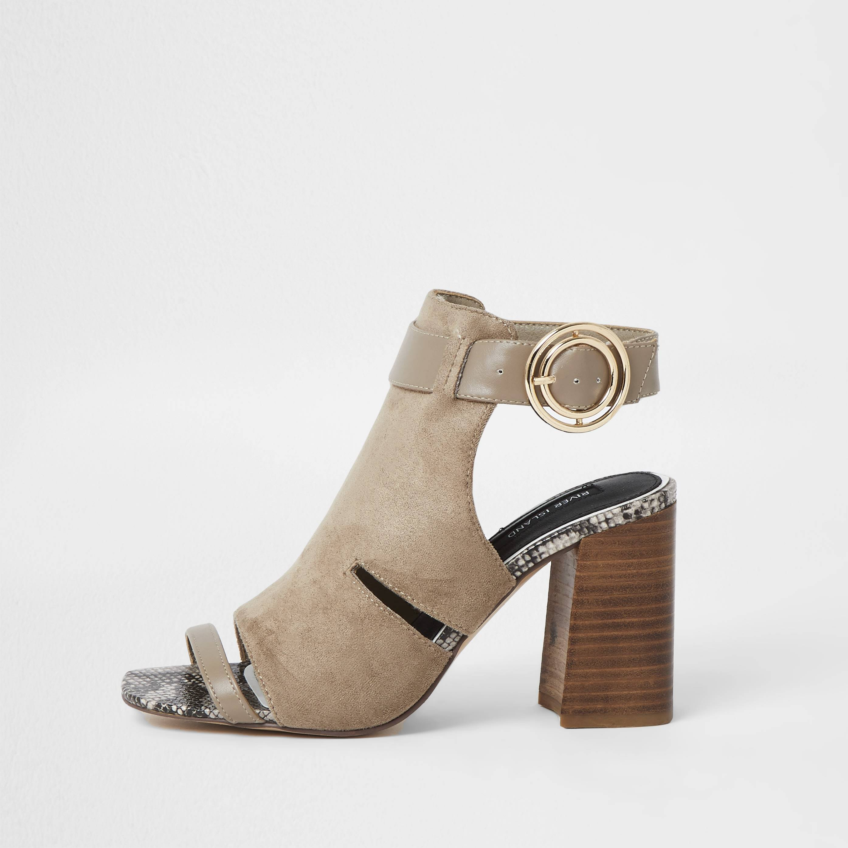 river island Womens Beige cut out buckle shoe boots (9)