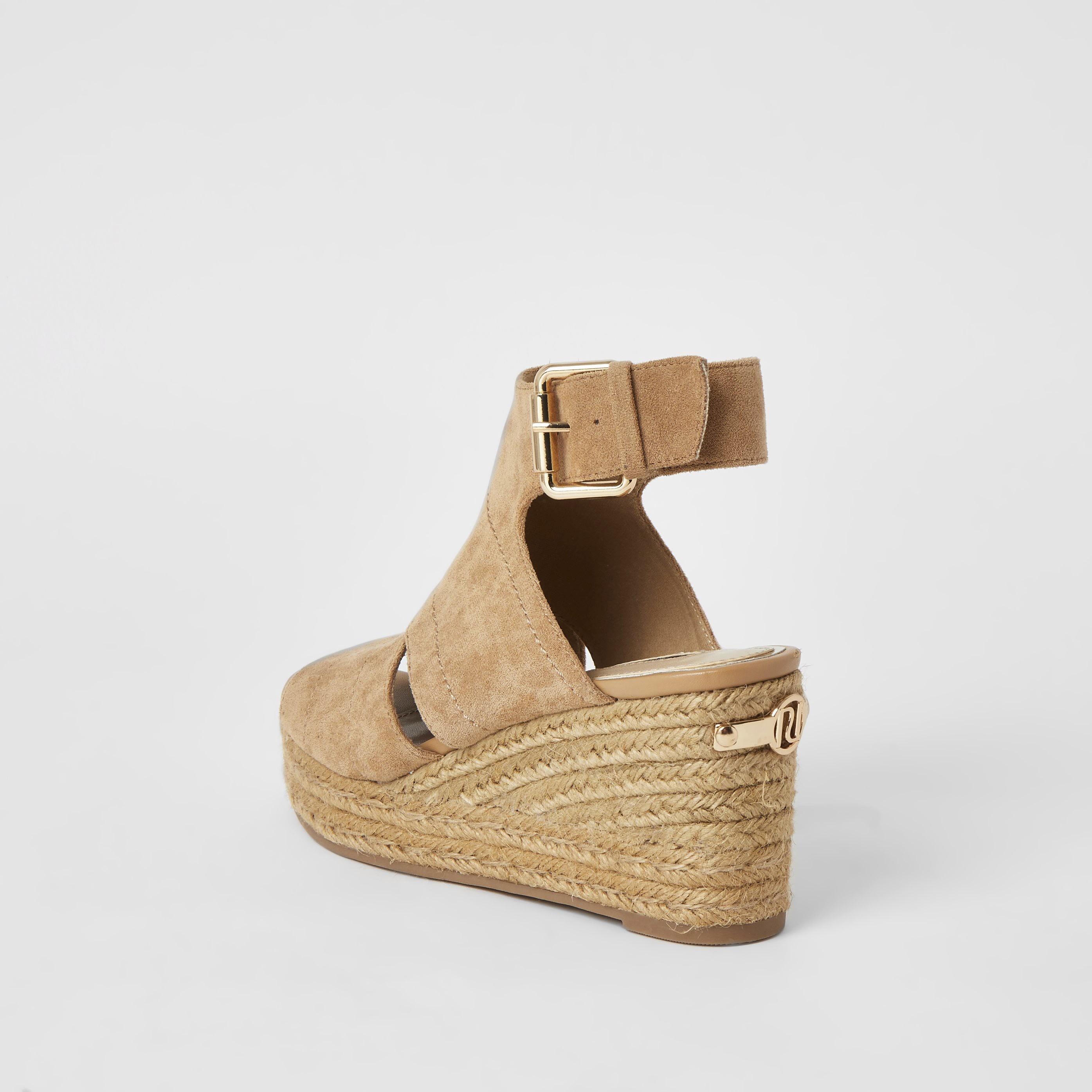 river island Womens Beige espadrille wedge sandals (9)