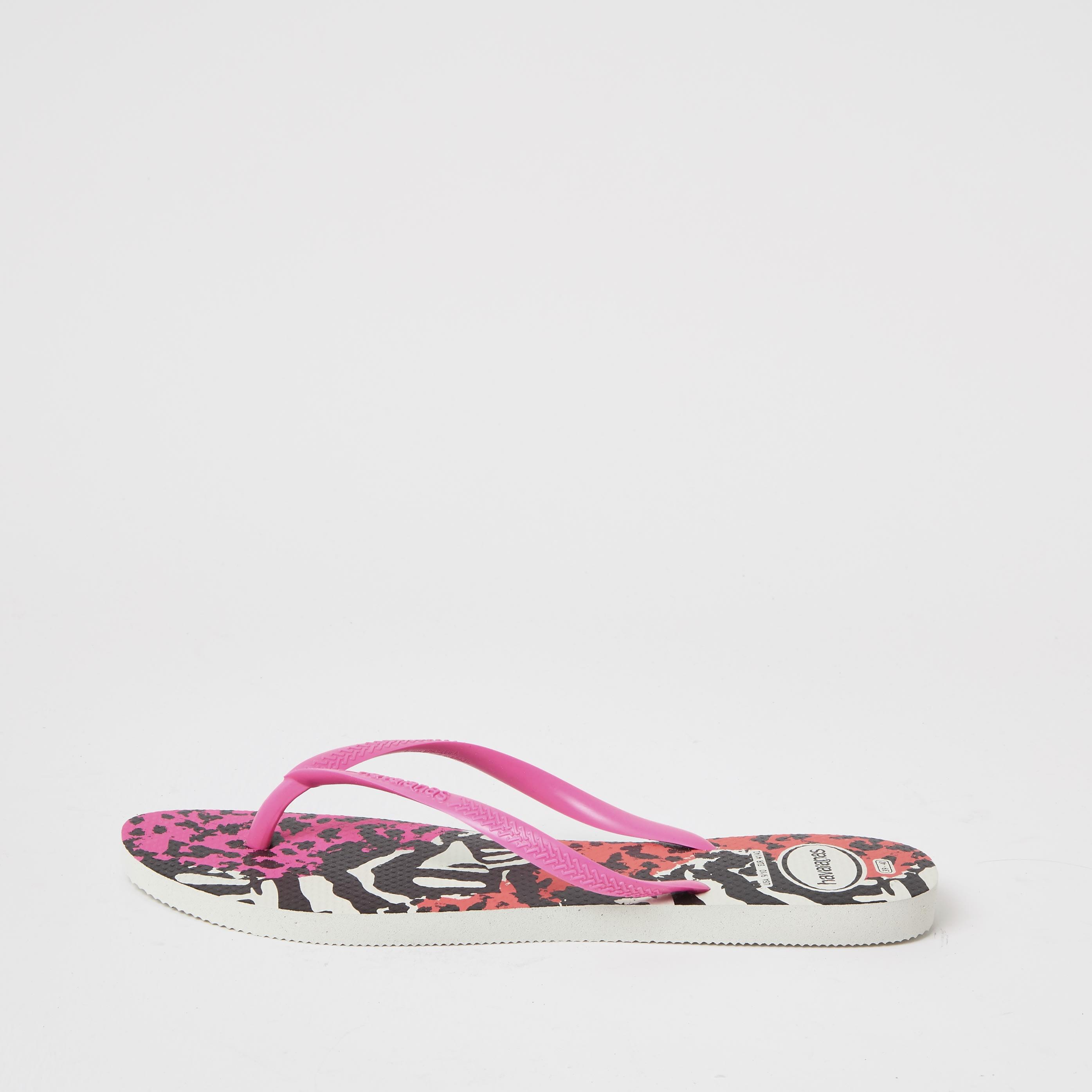 havaianas Womens Haviana Leopard Print Flatform Flip Flop (6-7)