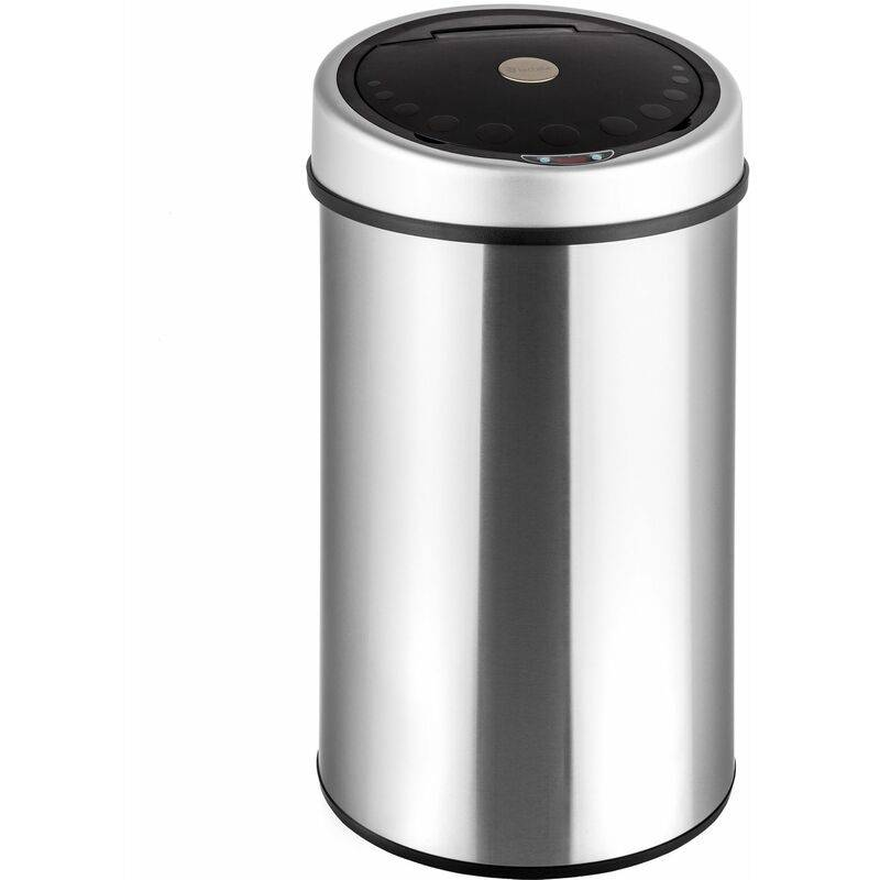Tectake - Kitchen bin with sensor - dustbin, trash can, rubbish bin - silver,