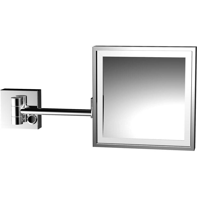Emco LED shaving and cosmetic mirror, magnification: 3x, two-arm, angular, 202