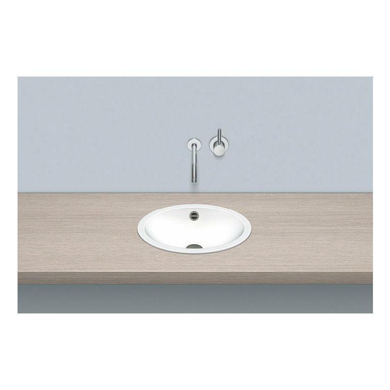 ALAPE built-in basin EB.O425, oval W: 425mm H: 110mm D: 325mm, 2100000000, white