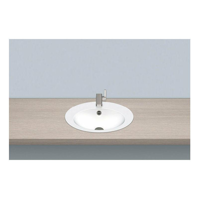 Alape built-in basin EB.O500H, oval W: 500mm H: 110,5mm D: 400mm, 2102000000,