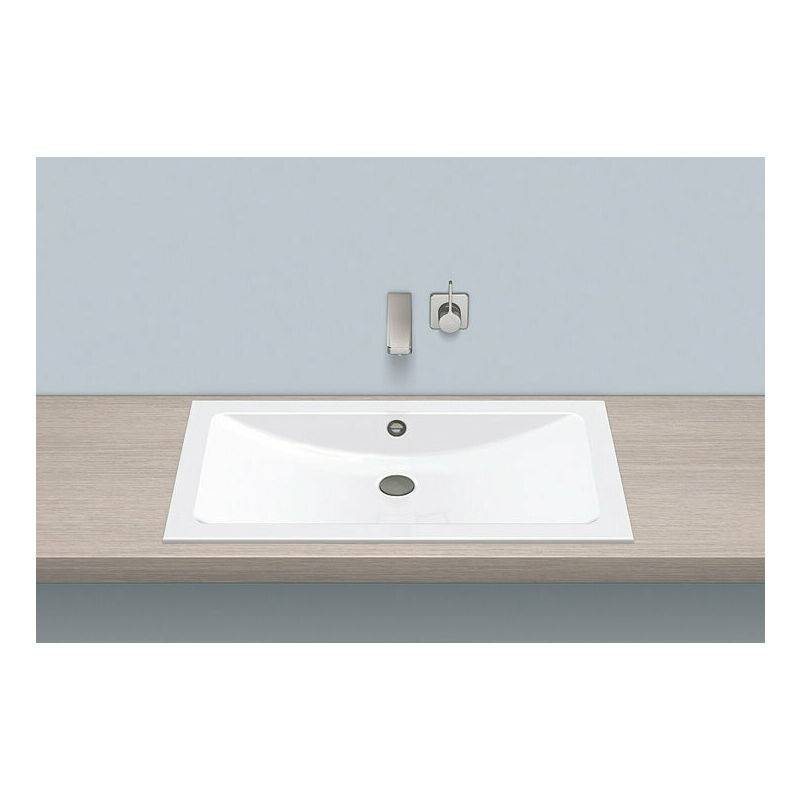 Alape built-in basin EB.R800, rectangular W: 800mm H: 121mm D: 450mm,