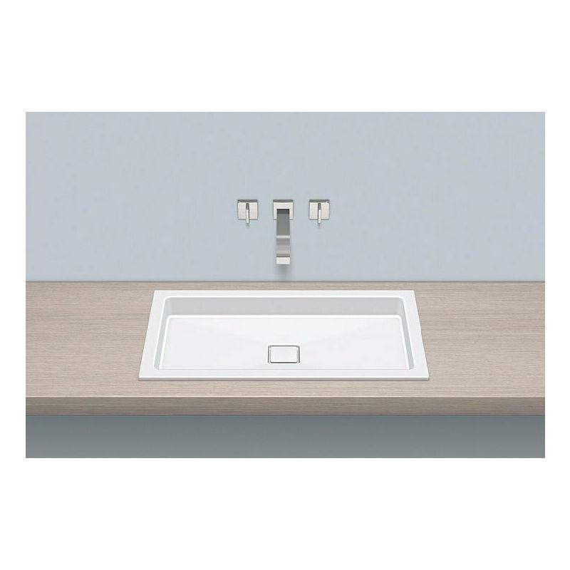 Alape built-in basin EB.RE700.4, rectangular W: 700mm H: 90mm D: 398mm,