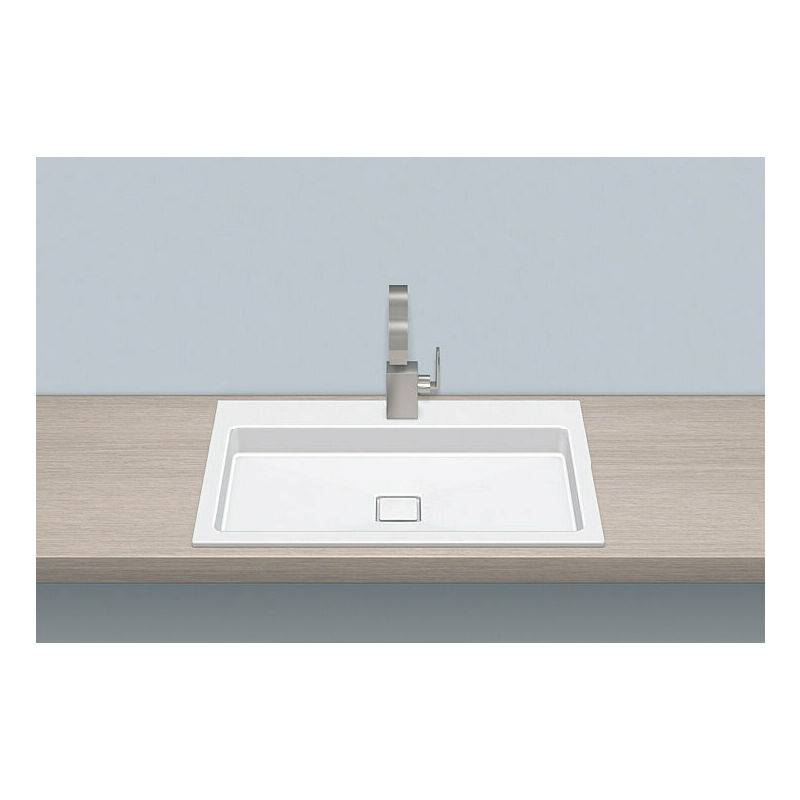 Alape built-in basin EB.RE700H.2, rectangular W: 700mm H: 90mm D: 460mm,