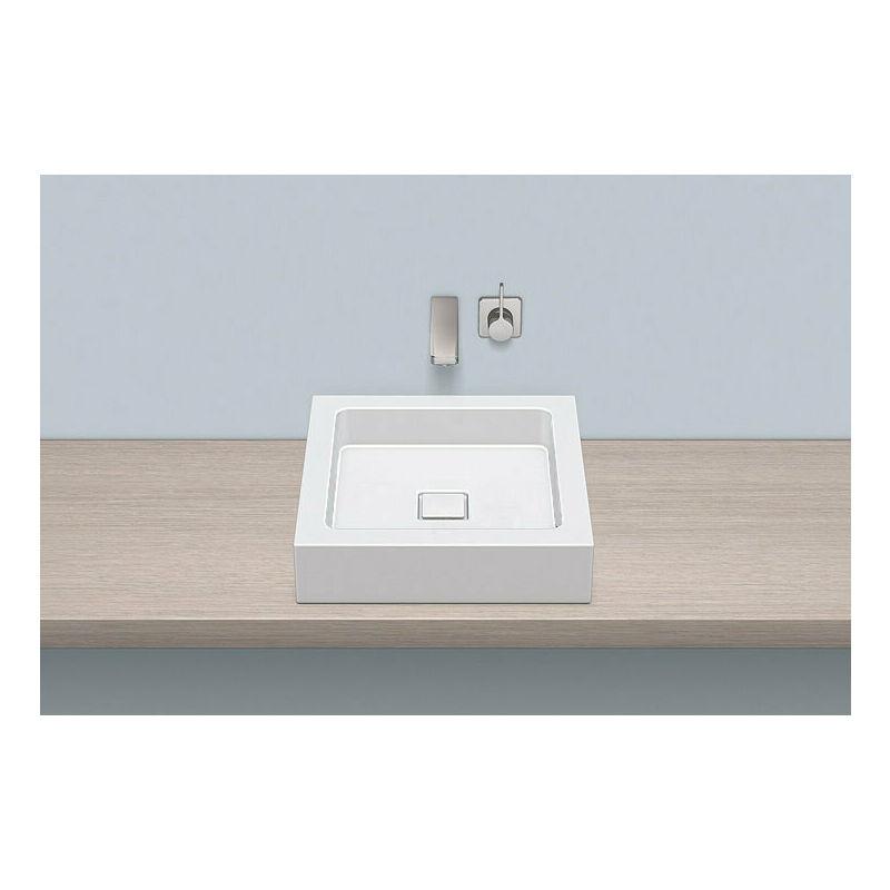 Alape top basin AB.Q450.1, square W: 450mm H: 110mm D: 450mm, 3302000000, white