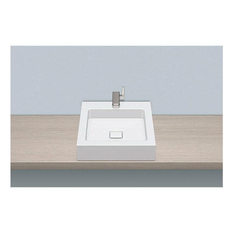 ALAPE top basin AB.Q450H.1, rectangular W: 450mm H: 110mm D: 500mm, 3304000000, white