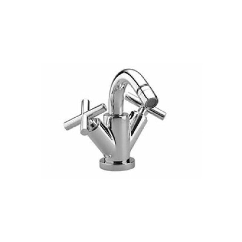 Dornbracht Tara single-hole bidet mixer, with waste fitting, 124 mm projection,