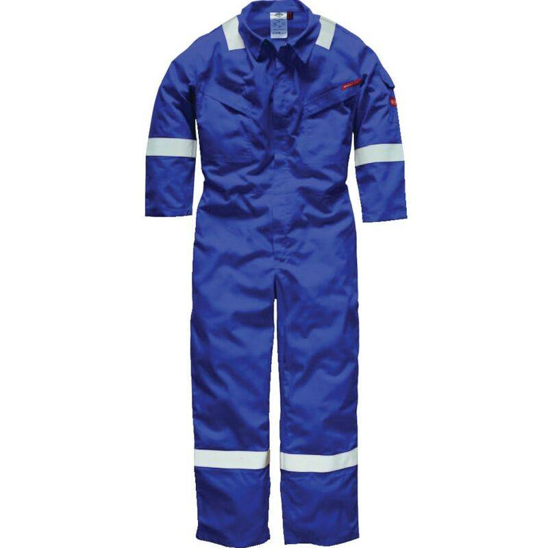 Dickies FR5402 Pyrovatex Coverall 350GSM Royal Blue 48'T