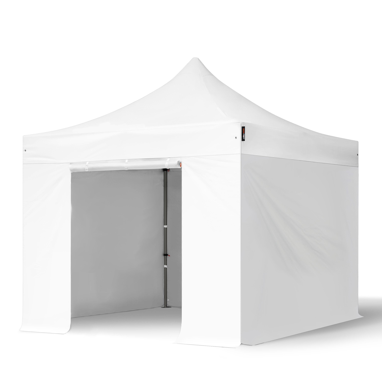 TOOLPORT Pop Up Gazebo 3x3m High Performance Polyester 350 g/m² white waterproof