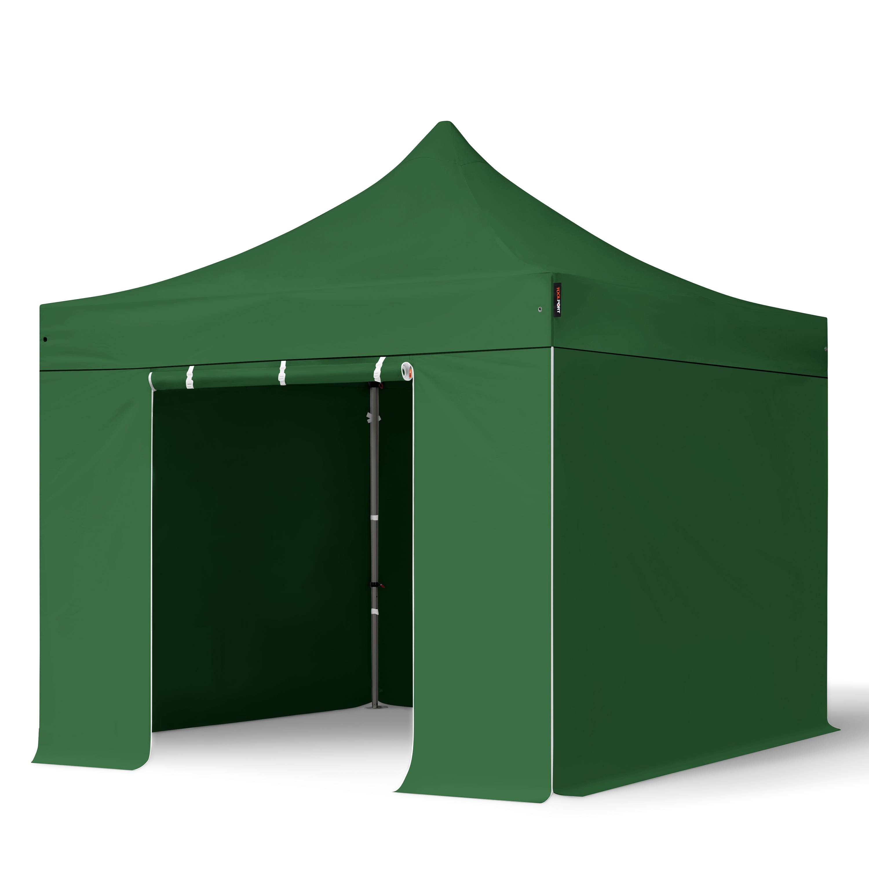 TOOLPORT Pop Up Gazebo 3x3m High Performance Polyester 350 g/m² dark green waterproof