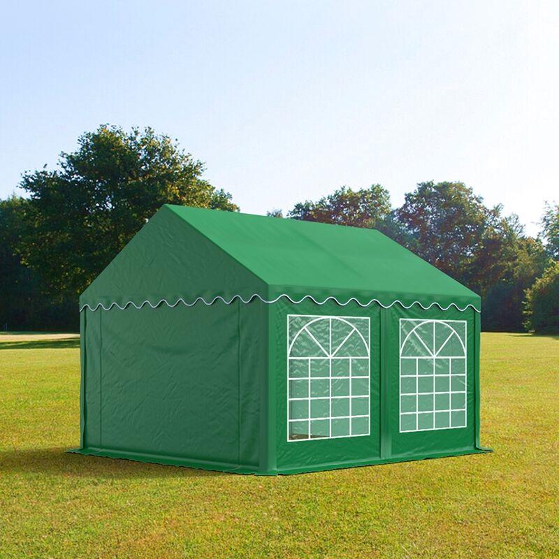 TOOLPORT Marquee 3x4m PVC 500 g/m² dark green waterproof