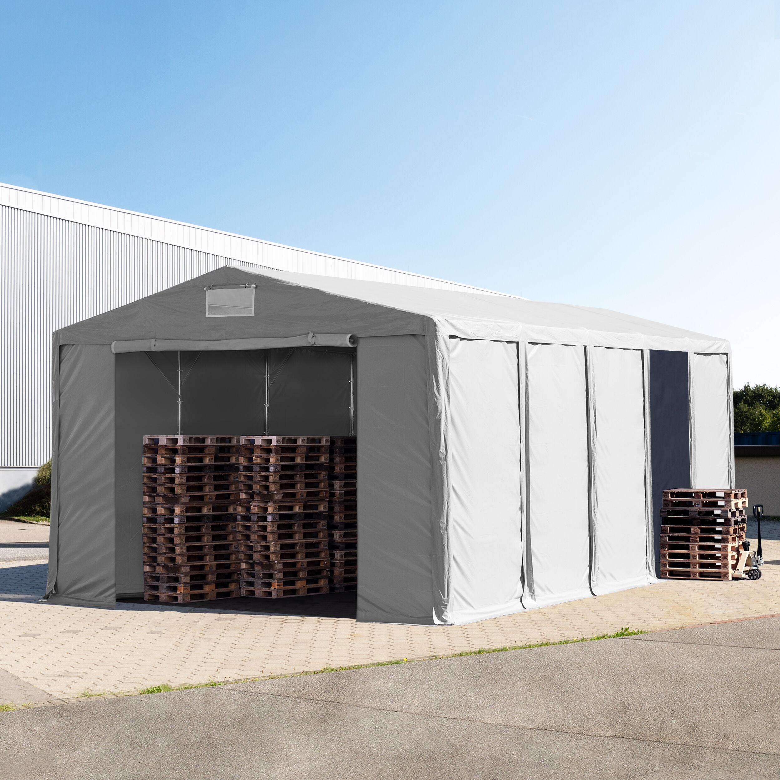 TOOLPORT Storage Tent 8x10m PVC 550 g/m² grey waterproof