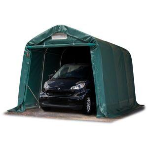 TOOLPORT Portable Garage 2,4x3,6m PVC 550 g/m² dark green waterproof