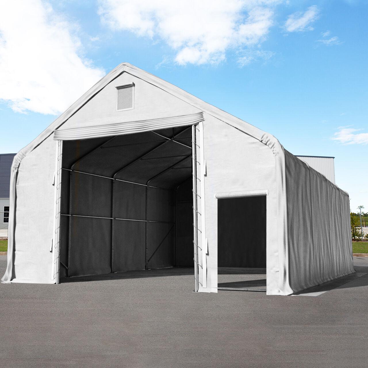 TOOLPORT Industrial Tent 8x16m PVC 720 g/m² grey waterproof