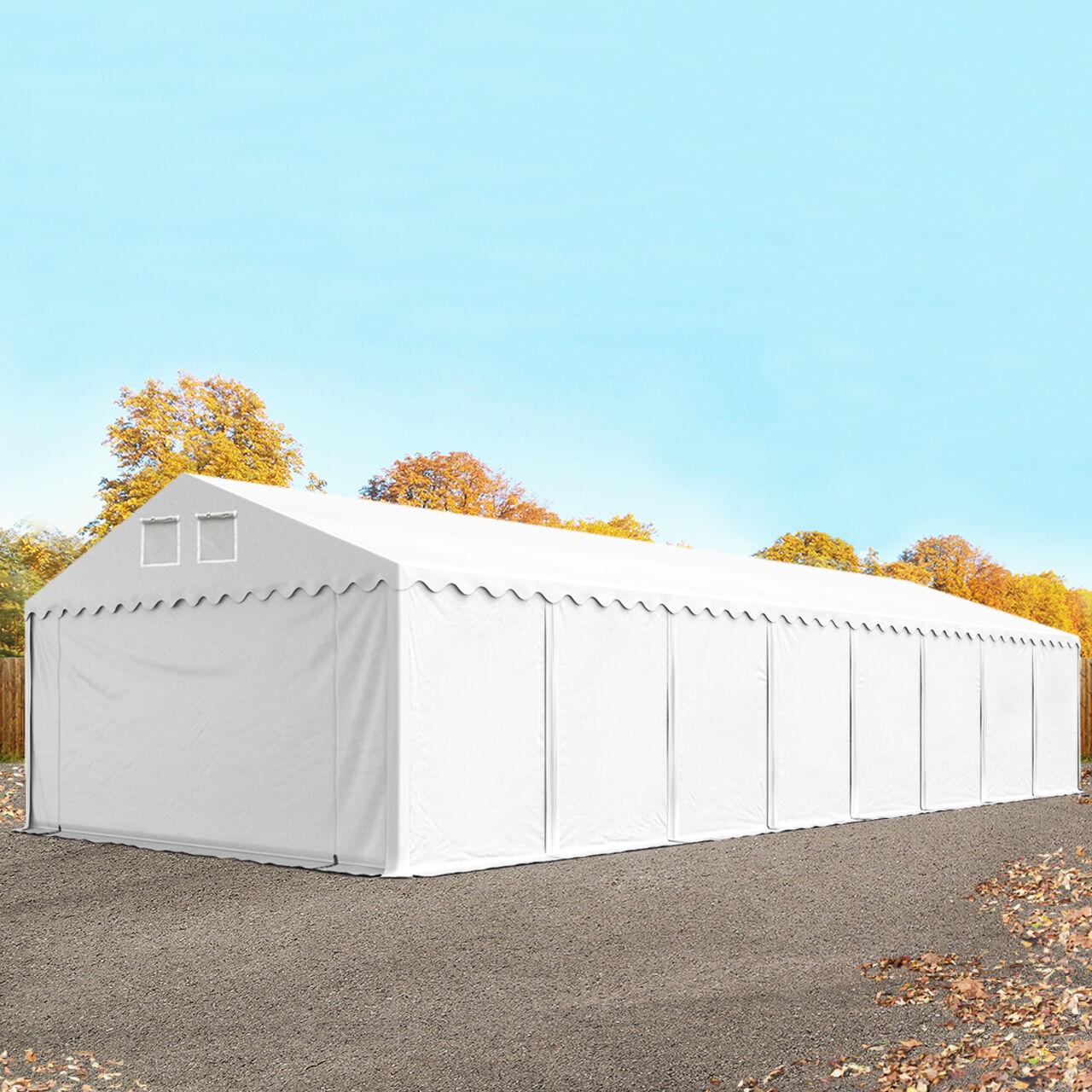 TOOLPORT Storage Tent 5x30m PVC 550 g/m² white waterproof