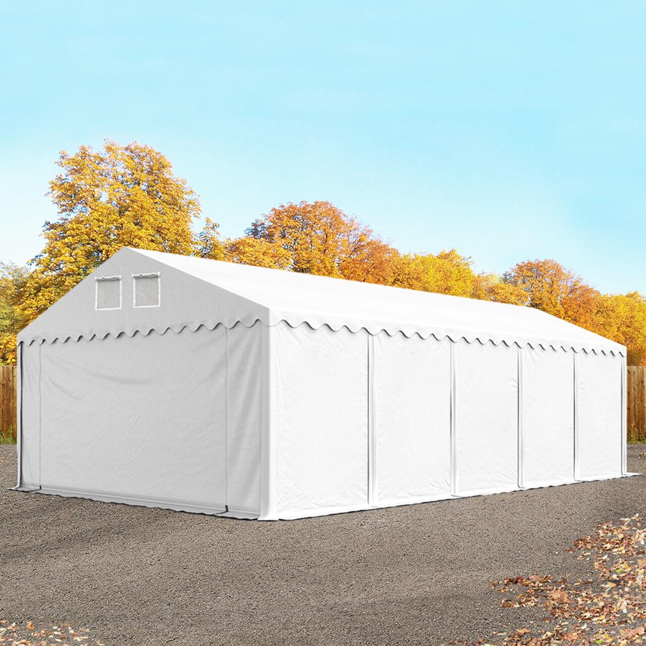 TOOLPORT Storage Tent 6x10m PVC 550 g/m² white waterproof