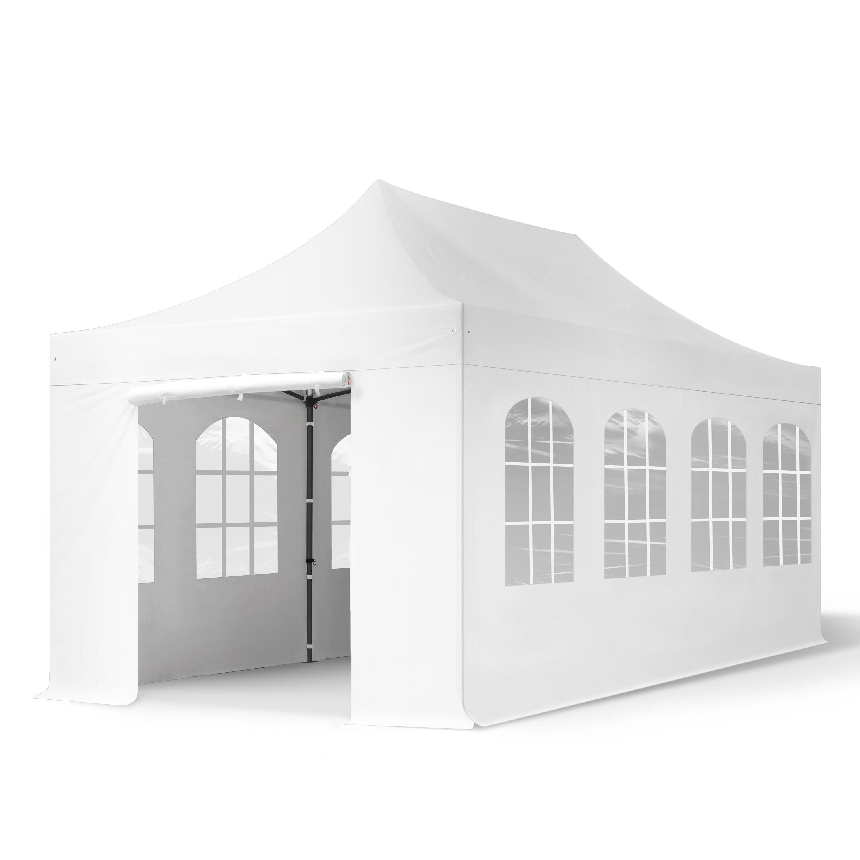 TOOLPORT Pop Up Gazebo 3x6m High Performance Polyester 350 g/m² white waterproof