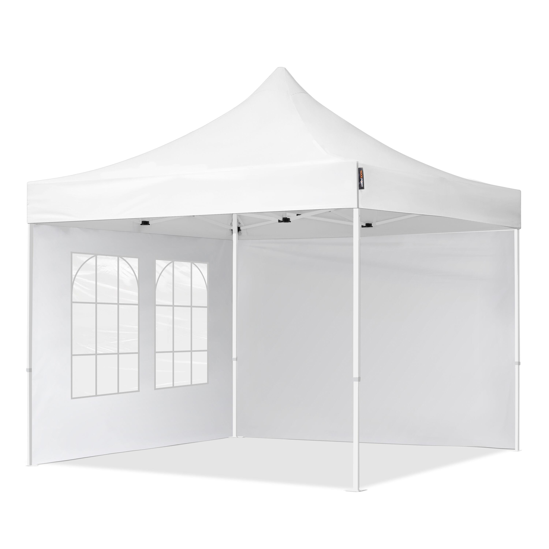 TOOLPORT Pop Up Gazebo 3x3m High Performance Polyester 300 g/m² white waterproof