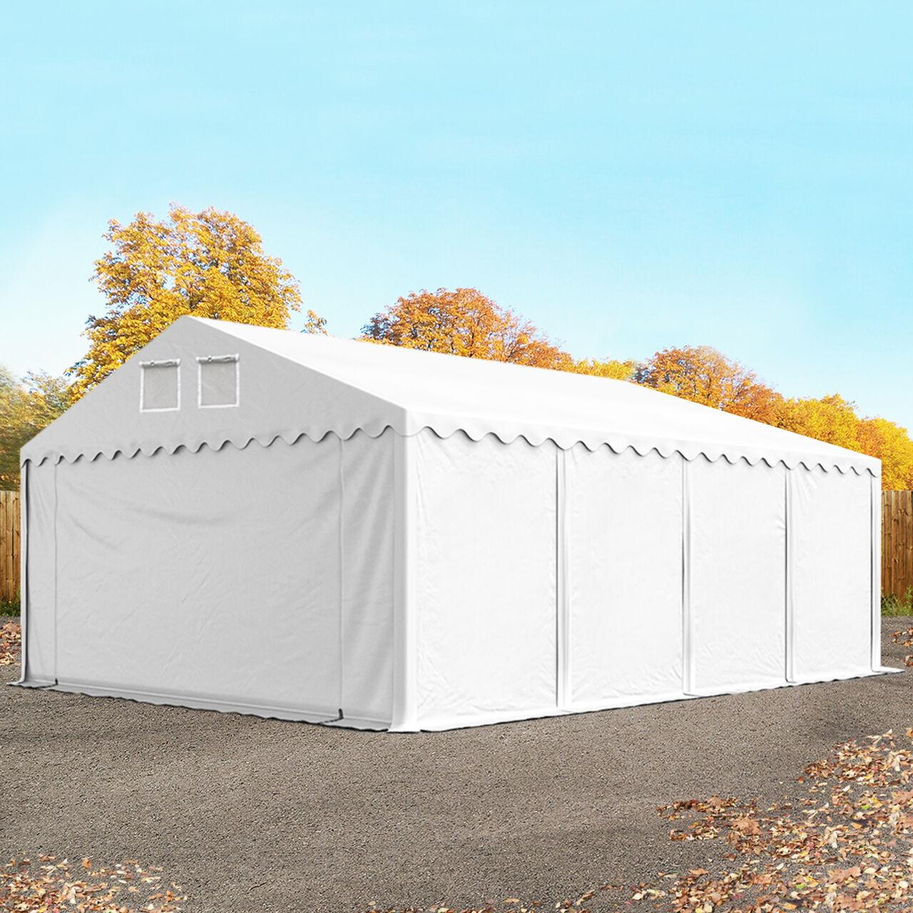TOOLPORT Storage Tent 5x8m PVC 550 g/m² white waterproof