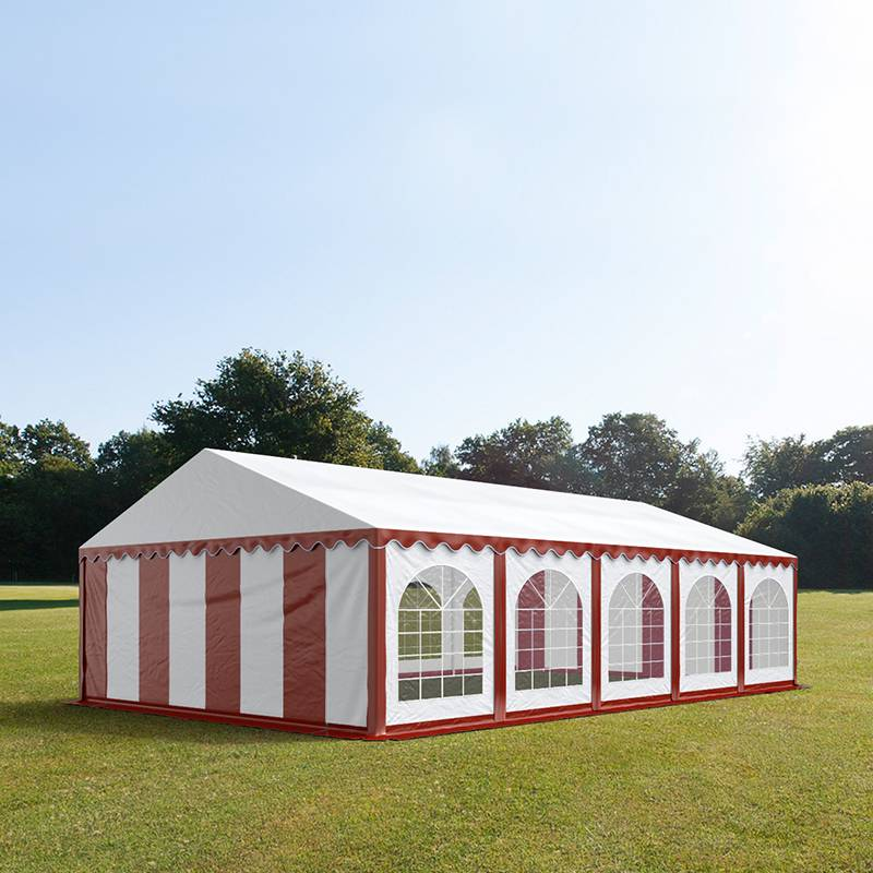 TOOLPORT Marquee 5x10m PVC 500 g/m² red-white waterproof