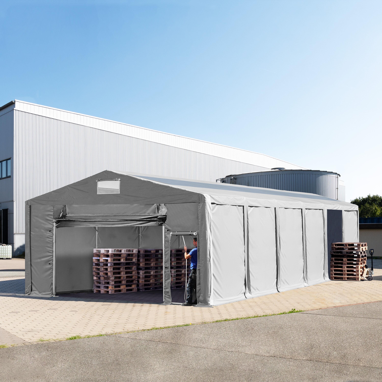 TOOLPORT Storage Tent 8x12m PVC 550 g/m² grey waterproof
